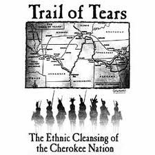 Trail of Tears Map  History Post Industrial Revolution up to WWI
