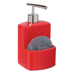 Square Dispenser Ceramic Red, $10, now featured on Fab.