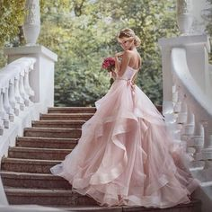 Gorgeous Dress.! #wedding #dress #love #pink Yes or No!?