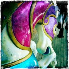 Love the vibrant colors of carousel horses!