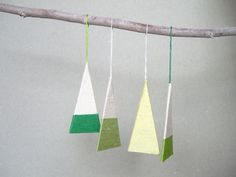 Modern Wrapped Paper Christmas Tree Ornaments: Remodelista