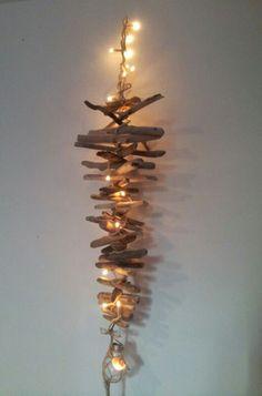 bois flotté corse guirlande lumineuse . : Confection abat-jours, lampes par corsicalvi2b