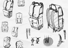 Fairbanks Collection on Behance I Got The Job, Technical Illustration, Cool Sketches, Designer Backpacks, Designs To Draw, Drawings, Behance, Anime, Collection