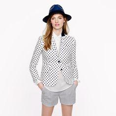 Schoolboy blazer in dotted linen