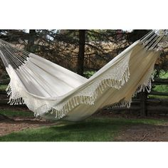 Brazilian-Style Double Deluxe Hammock. Neighbour has one of these, and it's gorgeous!