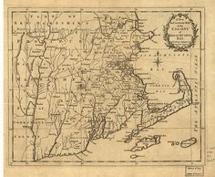 A new and accurate map of the colony of Massachusets [i.e. Massachusetts] Bay, in North America, from a late survey. by uconnlibrariesmagic, via Flickr