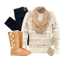 """""""Bundled in Beige"""" by qtpiekelso on Polyvore"""