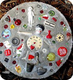 23 DIY Stepping Stones to Brighten Any Garden Walk                                                                                                                                                                                 More