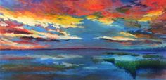 """Evenfall In The Lowcountry"" by J. Travis Duncan Lowcountry art. South Carolina."