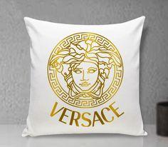 Gold Versace Pillow cover Cushion Throw Pillowcases Custom Gift Pillow case