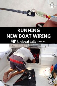Running new boat wiring in tight spaces isn't easy. But the right tools and techniques will help. Sailboat Restoration, Boat Wiring, Boat Navigation, Boat Cleaning, Boat Battery, Boating Tips, Sailboat Interior, Sailboat Living, Boat Safety