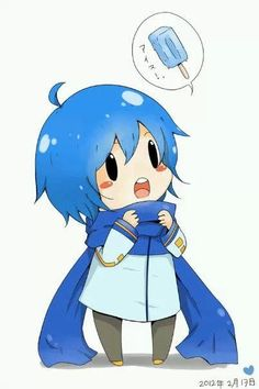 Vocaloid Kaito wanting Ice Cream.