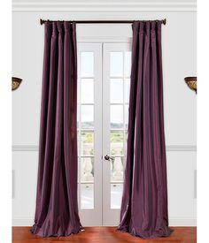 Buy Dahlia Faux Silk Taffeta Curtains & Drapes