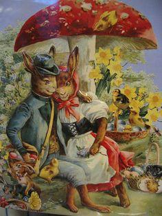 Mr & Mrs Rabbit tin