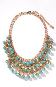 Bib Necklace. Would look great with Cousin mirror beads. #jewelryinspiration #cousincorp