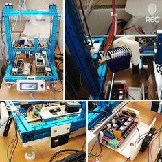 Something we liked from Instagram! Сборка этого 3D принтера - наша гордость. Боуден экструдер под 2.85 мм филамент с E3D хотэндом ножки из REC FLEX компактно размещенная электроника в специальном коробе кнопка вкл/выкл корпус для дисплея из REC HIPS. Осталось сделать обдув диодную подсветку экструдера и еще пару мелочей.  This printer assembly is our pride. Featuring bowden extruder with E3D hotend for 2.85 mm filament legs made of REC FLEX compactly placed electronics in a special box…