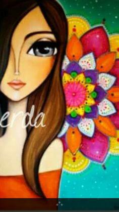 Art Pop, Pop Art Girl, Kunstjournal Inspiration, Art Journal Inspiration, Girl Face Painting, Painting For Kids, Acrylic Canvas, Canvas Art, Geometric Cat