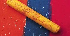 Técnicas de pastel oleoso em papel básico de desenho