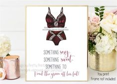 Instant download lingerie shower/lingerie party sign by Pretty Printables Ink. Our lingerie poem sign is the perfect decor for your lingerie shower or lingerie party! Print and frame instantly #lingerieshower #lingerieparty #lingeriesign #bridalshowersign #bachelorettepartysign #classylingeriedecor #somethingsexysomethingsweet #bridalshowerdecor #bachelorettepartydecor Hens Party Invitations, Printable Invitations, Bridal Shower Invitations, Party Printables, Bridal Lingerie Shower, Bridal Shower Signs, Bridal Shower Games, Lingerie Party, Bachelorette Party Signs
