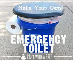 This emergency toilet is easy and simple. Ideal for camping.