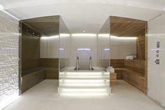 spa bathroom with sauna and plunge pool Home Steam Room, Sauna Steam Room, Sauna Room, Bathroom Spa, Bathroom Interior, Spas, Spa Design, House Design, Spa Hammam