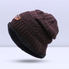 SIMPLESHOW Winter Knitting Hat Scarf Set Men Solid Color Warm Cap Scarves Male  Winter Outdoor Accessories Hats Scarf 2 Pieces 38ee46590f18
