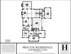 22 Barbara Ln Atlanta, Floor Plans, How To Plan, Mansions, Manor Houses, Villas, Mansion, Palaces, Floor Plan Drawing