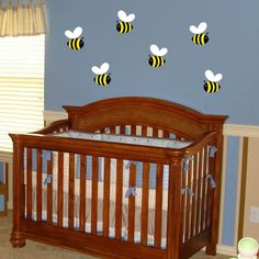 Colourful Bumble Bee - Nursery - Wall Decals Stickers | Burts ...