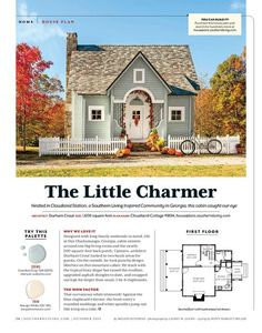 Southern Living — House plans tiny cottage - Home Decor -DIY - IKEA- Before After Small Cottage House Plans, Small Cottage Homes, Southern Living House Plans, Small Cottages, Bungalow House Plans, Craftsman House Plans, Small Cottage Interiors, Little House Plans, Craftsman Cottage