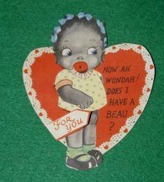 Antique Valentine's Day Card Black Americana Vintage Valentine Card | eBay