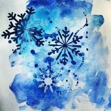Image result for snowflake watercolour
