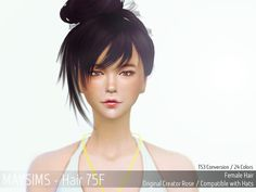 MAY Sims: May 75F hair retextured - Sims 4 Hairs - http://sims4hairs.com/may-sims-may-75f-hair-retextured/