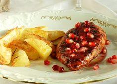 Piept de pui suculent in sos de rodie French Toast, Breakfast, Food, Morning Coffee, Essen, Meals, Yemek, Eten