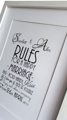 Personalised Unique Rules For A Happy by WowLoveThisDesigns