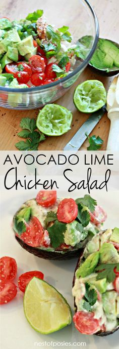 Avocado Lime Chicken Salad.  So delicious, you'll forget it's so good for you too!
