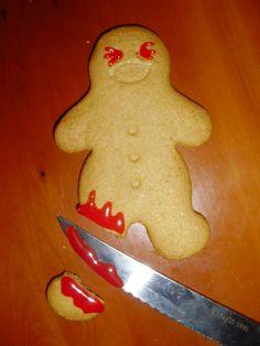 Yumm gingerbread man - ghetto murder style!