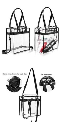 Clear Tote Bag Bags Handbag PVC Women Shoulder Fasion Transparent Beach Note Bags Bagail.com