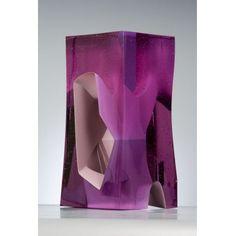 Mesocosm 1, 2010, Crystal glass, 40 cm hoog (Han de Kluijver)