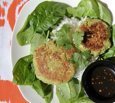 Edamame Pancakes with Soy Drizzling Sauce