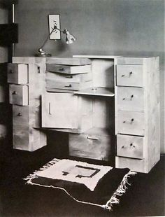 Architect Cabinet by Eileen Gray, c. Desk Cabinet, Cabinet Furniture, Harlem Renaissance, Small Furniture, Furniture Design, Bauhaus, Eileen Gray, Gray Matters, Grey Cabinets