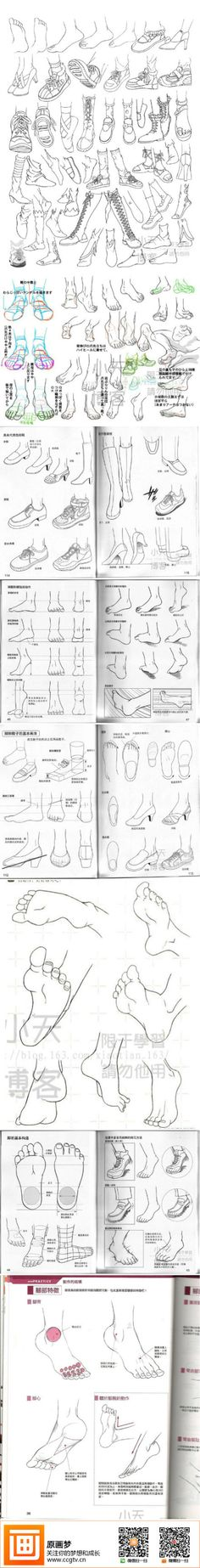 Painting Tutorial - students need human foot structure and quickly hold ...