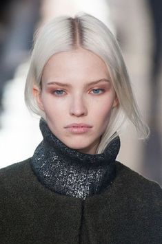 Sasha Luss at Tory Burch Fall 2014 New York Fashion Week _  She is everything with blond hair.