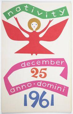 "Alexander Girard, 1961 | Brochure for ""The Nativity,"" Museum of International Folk Art, Santa Fe"