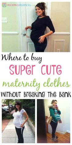 Maternity clothes can be expensive but they don't have to be. Check out these…
