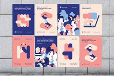 Helseutvalget (Gay and Lesbian Health Norway) — Bielke&Yang Web Design, Book Design, Identity Design, Visual Identity, Illustration Simple, Dm Poster, Medical Posters, Plakat Design, Event Branding