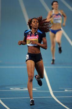 Damn girl. Sanya Richards-Ross, 27, Long Sprints  American Record, 400 meters (48.70)    Five World Titles (400 meters, 4x400)    Bronze Medalist, 400 meters, 2008 Olympics    Gold Medalist, 4x400 relay, 2008 Olympics