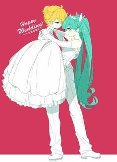 Vocaloid - Len x Miku