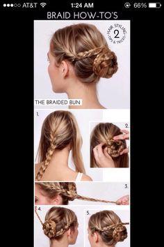 braided bun(: