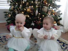 Girl's Christmas Angel Bibs - custom baby bib