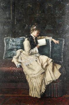A Good Book ~ Camille Leopold Cabaillot Lassalle ~ French: 1839-1888